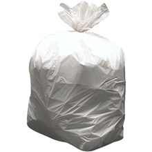 High Density Trash Liners - Natural, 56 Gallon, 17 Mic.