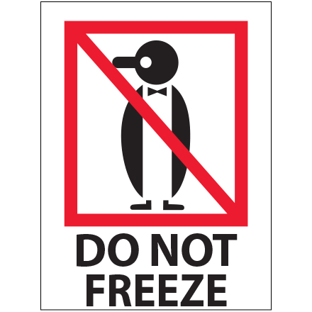 "3 x 4"" - ""Do Not Freeze"" Labels"