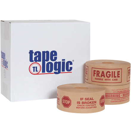 Tape Logic<span class='rtm'>®</span> Pre-Printed Reinforced Water Activated Tape